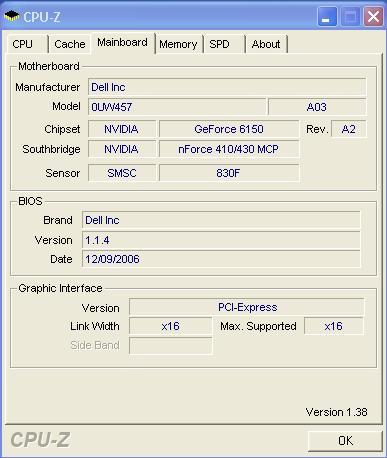 CPU-Z Dell E521 X2 5600+